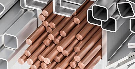 Cobreado de metales. tubos de cobre