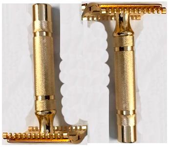 Baño de oro. cuchillas banadas en oro