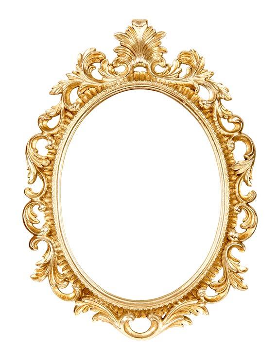 Restauración de metales. restauracion de espejo con bano de oro
