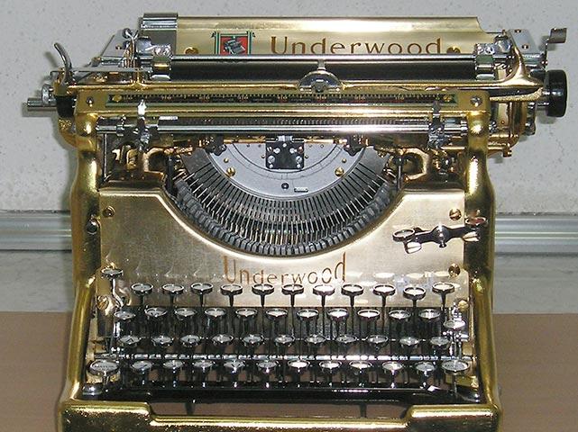 Restauración de máquinas de escribir antiguas