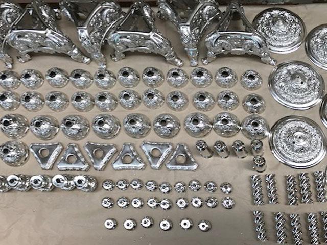 Restauración de candelabros y otros objetos de metal en Zaragoza